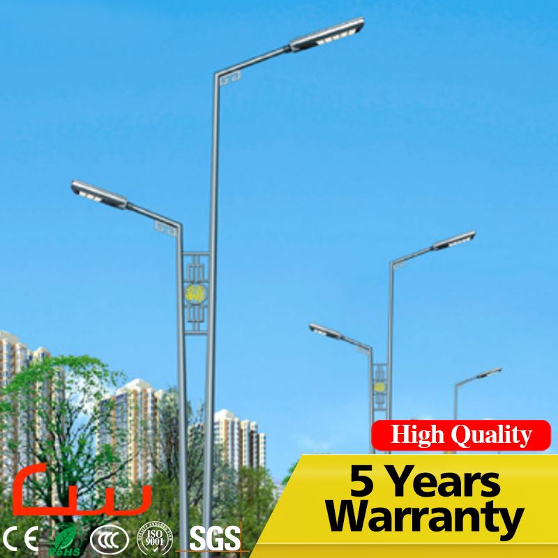 8M galvanized and painted post 120W right price LED street light