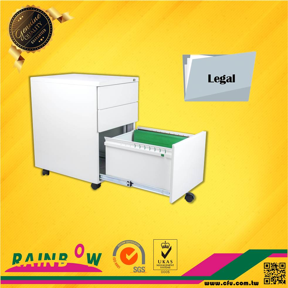 Taiwan manufacturer Office Furniture White Steel Price 3 Drawer Filing Cabinet For Sale