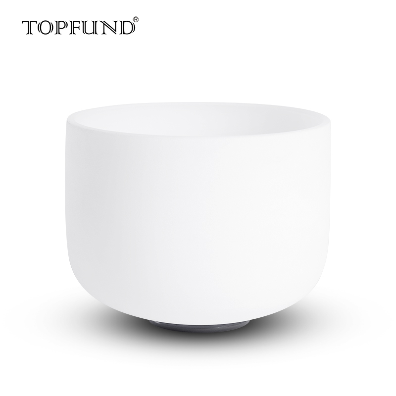 "TOPFUND Chakra Frosted Quartz Crystal Singing Bowl <strong>12</strong>"" ,O ring and Mallet included"