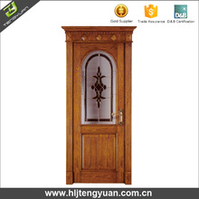 Solid wooden mosquito net door design