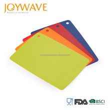 2017 new product cheap plastic pp flexible cutting chopping board mat set