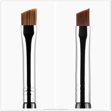 logo wooden handle angled brow brush