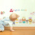 New Arrival Kids Room decorative Learning English cartoon animals name DIY decorative sticker
