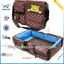 Baby bag + portable bed combo or Mummy bag and folding baby bed .