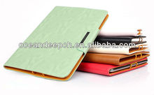 Luxury design mobile phone leather flip covers for samsung tablet leather case
