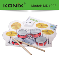 Wholesale Drum Sets Rich Sound Drum,usb roll up drum kit