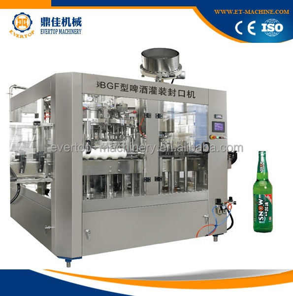 3 In 1 Automatic Glass Bottle Beer Bottling Machine
