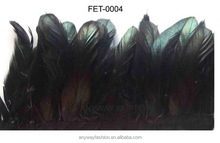 Black chicken feather fashion trim