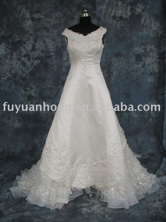 2010 stain bridal wedding dress FYH-WD9157