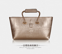 Factory custom manufacturer bling texture handbags genuine leather bags