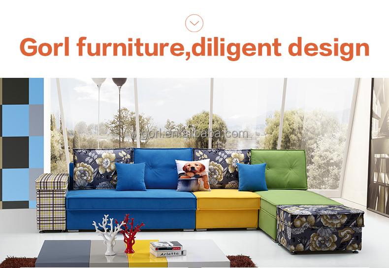 Gorl muebles de alta calidad en forma de L sofá para sala de estar ...