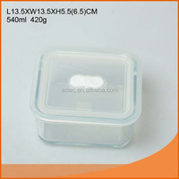 Food grade square shaped glass food container box from China market