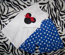 2014 summer girl clothes polka dots kids outfit