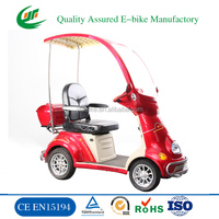 2015 hot sale disable light weight electric mobility scooter with roof (YF-600)
