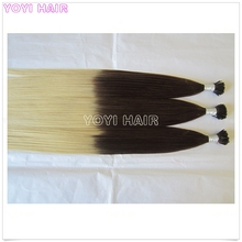 Remy Natural color kinky straight Two tone I tip extension