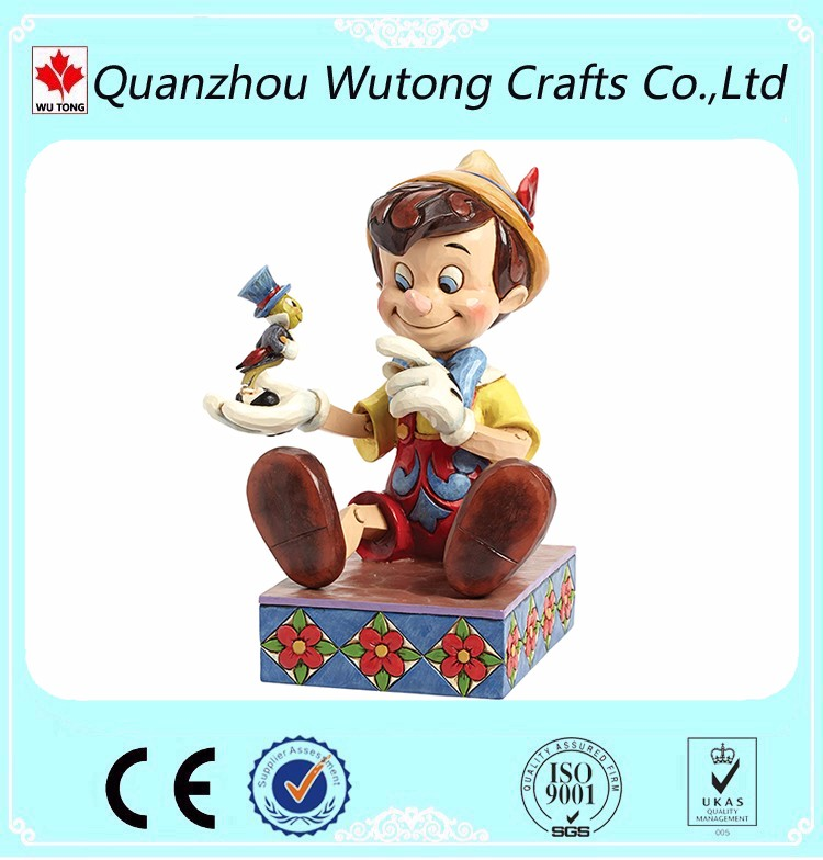 Cheap Price Resin Products Carton Pinocchio Polyresin Figures