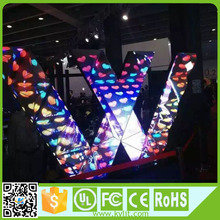 High brightness full color shaped dj booth led screen for bar