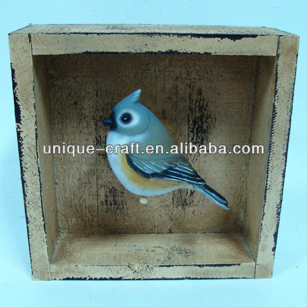 Garden wooden resin bird importers