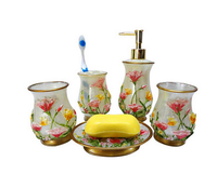 Hot Design Plastic 2016 Bathroom Set--- Cup, . Soap Dish