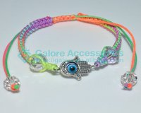 hand made cheap jewish charm woven bracelet