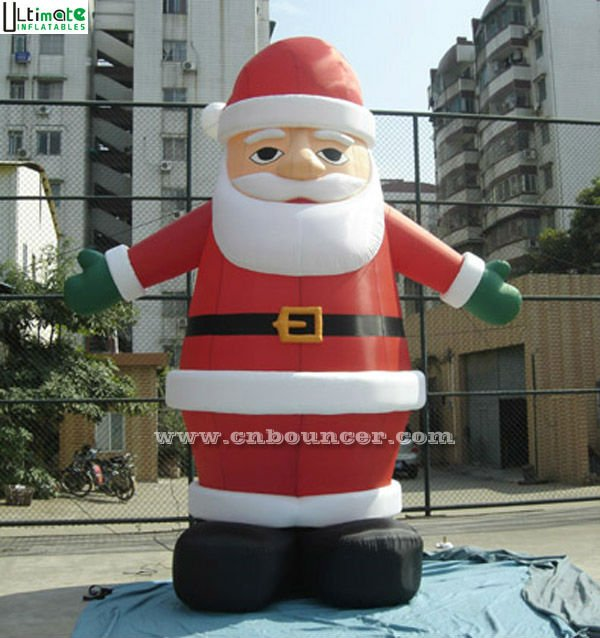 5 mts high large christmas inflatable santa claus from China factory FOR SALE