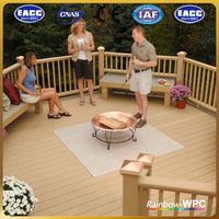 CE,ISO,TUV,SGS Certification wpc waterproof high quality cheap price balcony flooring materials