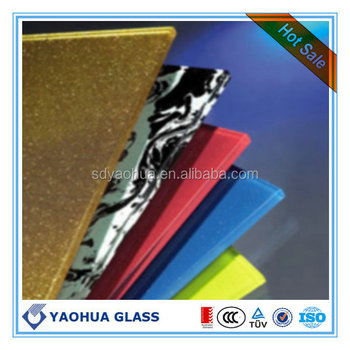 High Quality 12mm Ceramic Frit Glass, Enameled Glass, Silk Printed Glass