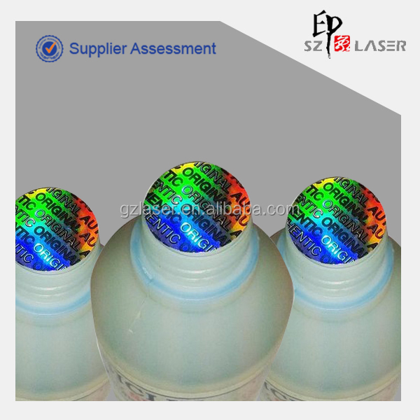 Hologram Wads for Bottle Hologram Tamper Evident Seal Label Generic Pattern