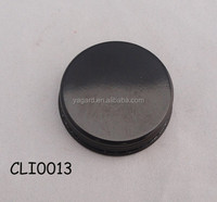 Polished gloss black glass jam jar metal cap