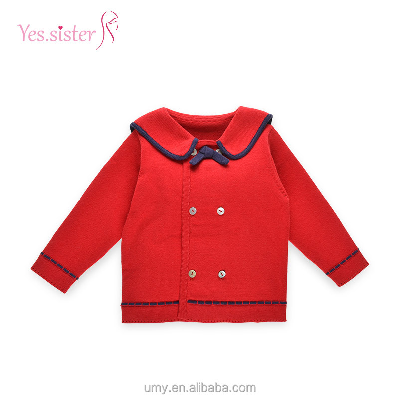 2017 Baby Boy Navy Style Cardigan Sweater For Children