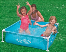 Factory wholesale INTEX 57173 square tube frame baby swimming pool, pool bath pond, fish Basin
