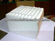 Refractory material ceramic fibre module with anchor system