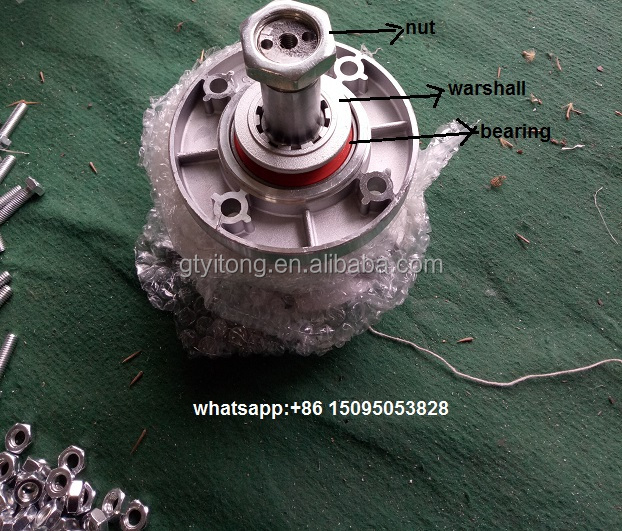centrifugal exhaust fan/push pull fan extractor/fan parts/belty pulley, hub and bearing, warshall and nuts