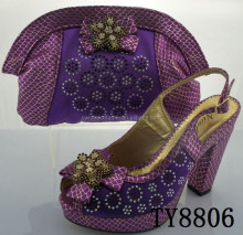 High quality reinforced hot sell second hand clothes shoes and bags TY8806 purple