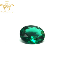Various shapes crystal beads Synthetic emerald gemstones