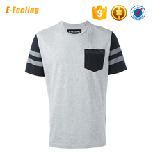 Custom Design Your Own Logo Crew Neck Sport T Shirt With Pocket Wholesale