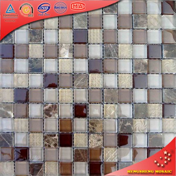 KS234 Beige Marble Stone Mosaic Marble Mosaics Wall Tiles Marble Mosaic Table And Chair