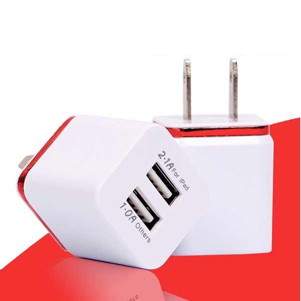 Super fast mobile phone charger 2 port 5v 2a usb wall charger for iphone