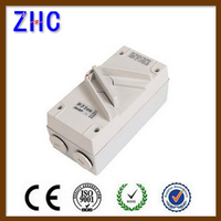 IP66 waterproof floor box timer isolating switch socket