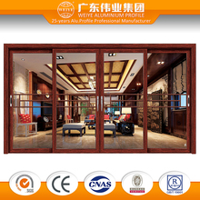 hotel high speed sliding entry glass interior door partition doors
