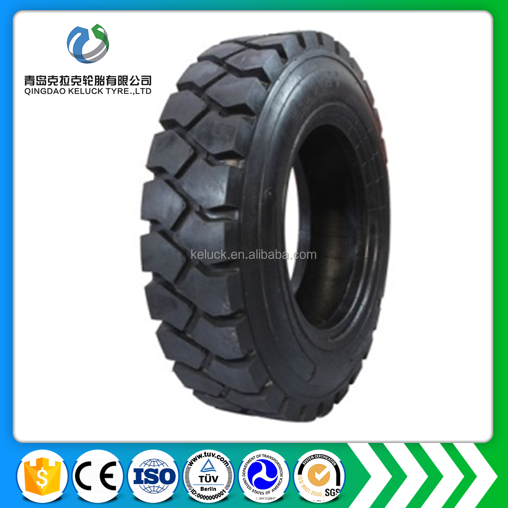 China Super solid tires for industry W-9B 8.25-12 solid FORKLIFT TIRE