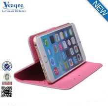 Veaqee mobile phone bags pu credit card case for iphone