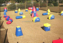 inflatable paintball bunkers field for laser tag