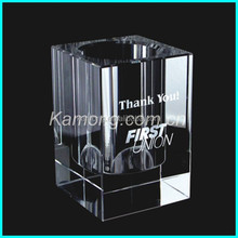 2017 new design crystal pen holder for the business gifts