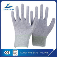 Hot Sale 15G Nylon Working Gloves/Nitrile Sandy Coated Gloves/Touch Screen Safety Gloves