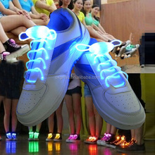 OXGIFT Surtidor de China Al Por Mayor Fábrica de Precios Amazon carnival Party Fluorescente LED Brillan cordones de los Zapatos Perezosos