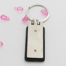 Embossed Logo Leather Keyring/Key ring/key chain/keychain