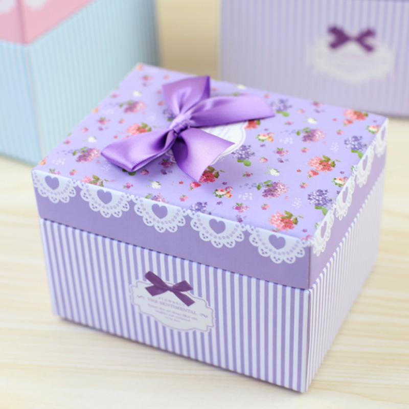 Cheap special design wholesale cardboard paper birthday gift box