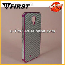 Aluminum+fiber hard back cover for samsung galaxy S4