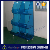 supermarket display showcase ; acrylic literature holders